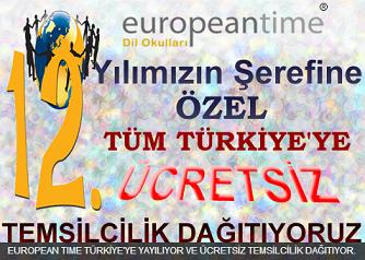 Europian Time Dil Okulları 2012 Boyunca Ücretsiz Franchising Veriyor